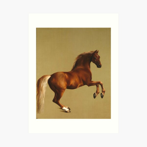 A Saddled Bay Hunter Vintage Fine Art Print George Stubbs