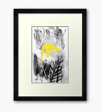 Yellow Panther Framed Print