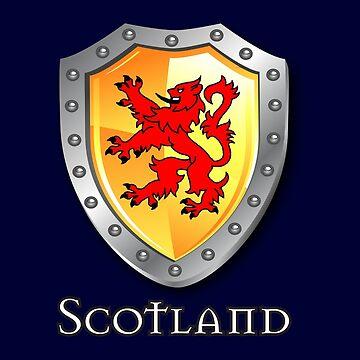 Scotland Lion Rampant Shield by eyemac24