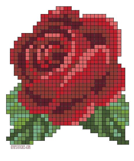 """Pixel Red Rose "" Poster By Dubukat"