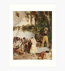 Georges Jules Victor Clairin - The Spanish Dancers Art Print