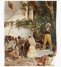 Georges Jules Victor Clairin - The Spanish Dancers Poster