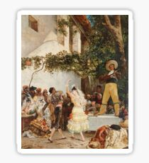 Georges Jules Victor Clairin - The Spanish Dancers Sticker