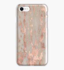 Rose gold Genoa marble iPhone Case/Skin