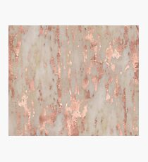 Rose gold Genoa marble Photographic Print