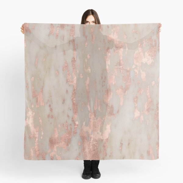 Rose gold Genoa marble Scarf