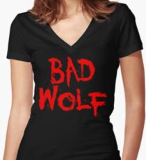 Badwolf Women's Fitted V-Neck T-Shirt