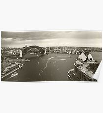 Sydney icons aerial Poster