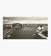 Sydney icons aerial Photographic Print