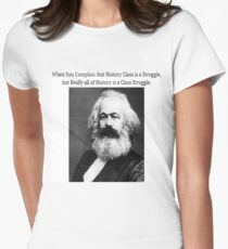 Funny History Class Karl Marx Meme Women's Fitted T-Shirt