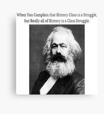 Funny History Class Karl Marx Meme Metal Print