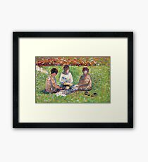 Georges Seurat - The Picnic 1885 Framed Print