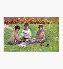 Georges Seurat - The Picnic 1885 Photographic Print