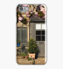 Cotswold Cottage with blossom 01 iPhone Case/Skin