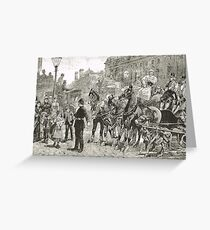 Victorian Style Congestion in London Greeting Card