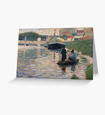 Georges Seurat - View Of The Seine Greeting Card