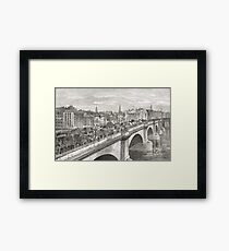 London Bridge in the 19th Century Framed Print