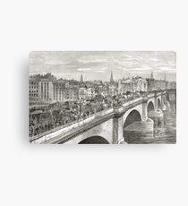 London Bridge in the 19th Century Canvas Print
