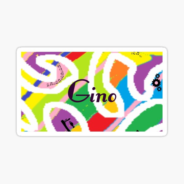 Gino -  personalize your gift Sticker
