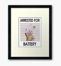 Duracell Bunny - Arrested For Battery Framed Print