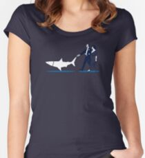 Walking the Shark Women's Fitted Scoop T-Shirt