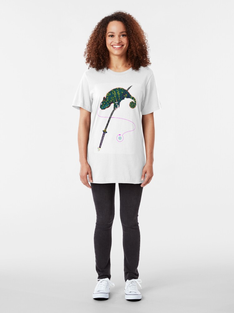 Alternative Ansicht von Samurai Chameleon Slim Fit T-Shirt
