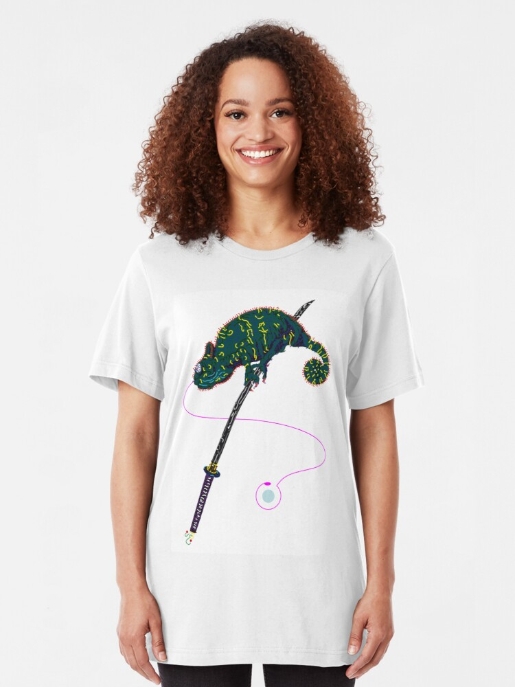 Alternative Ansicht von Samurai Chameleon Slim Fit T-Shirt