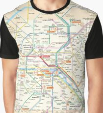 Paris Subway Map Graphic T-Shirt