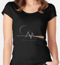 Dark Side - Pink Floyd tribute Women's Fitted Scoop T-Shirt