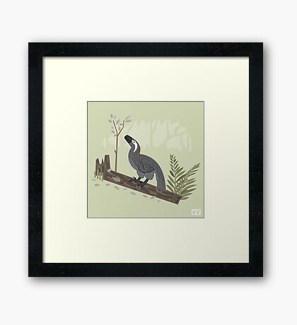Utahraptor in the Forest Framed Print
