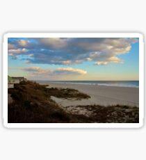 Clouds Over Holden Beach Sticker