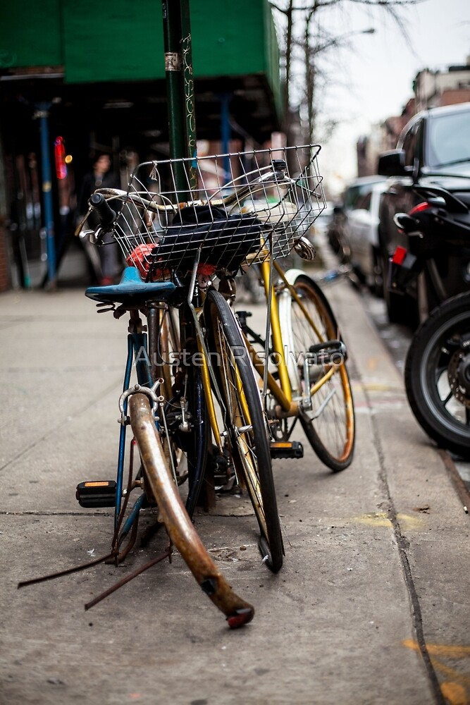 East Village Bicycle Tangle by Austen Risolvato