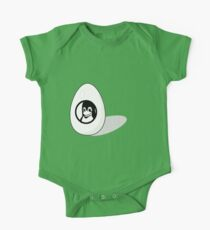 LINUX TUX EGG BRAND  One Piece - Short Sleeve