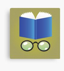 book and glasses Canvas Print