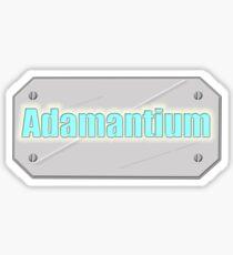 Adamantium, Logan - Wolverine Xmen metal plate Sticker