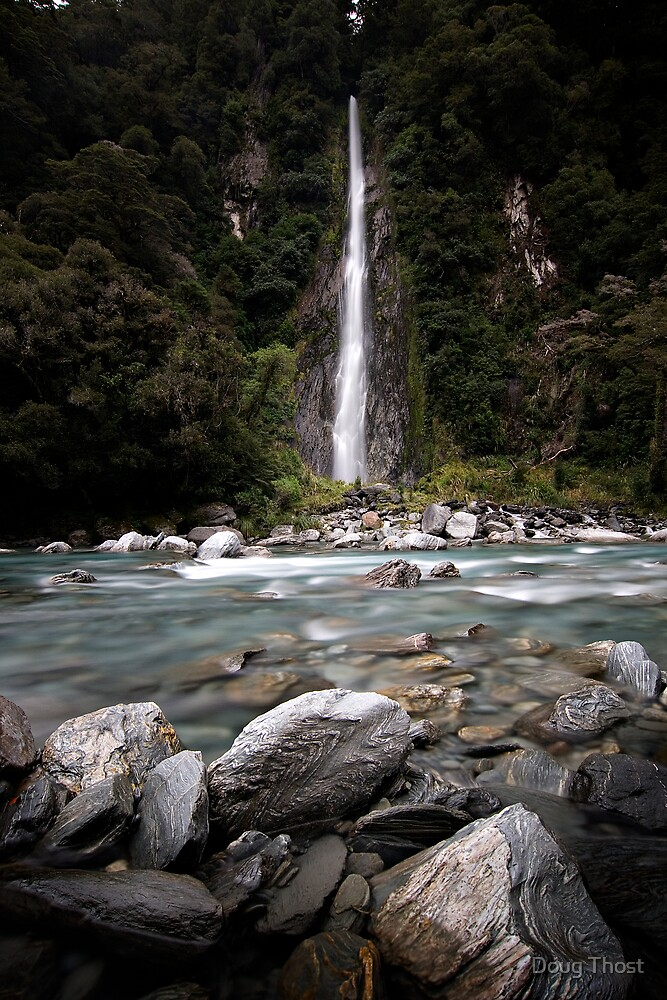 Waterfall, Haast River by Doug Thost
