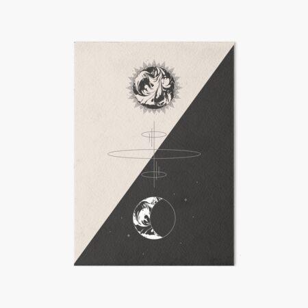 Sun & Moon Cosmic Totem - Minimal Art Board Print