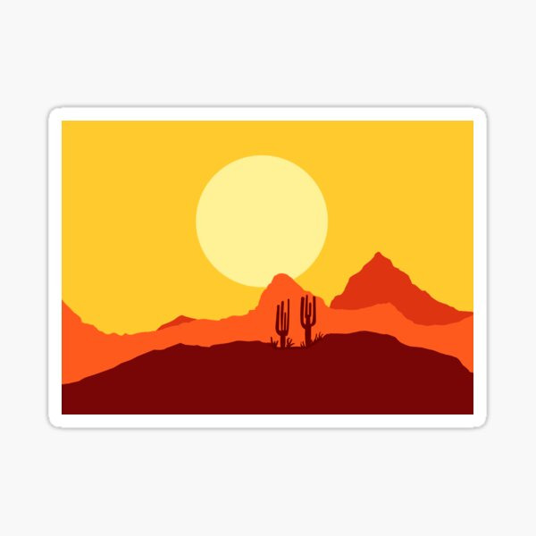 Mojave desert scene Sticker