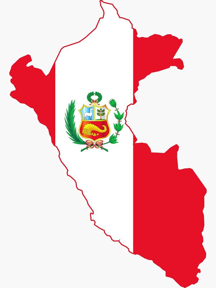 Bandera del mapa peruano de CacaoDesigns