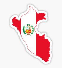 Peruvian map flag Sticker