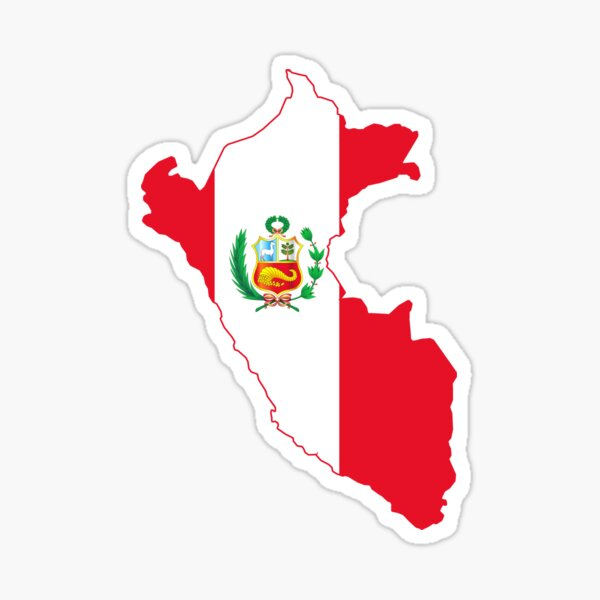 Peruvian map flag Sticker