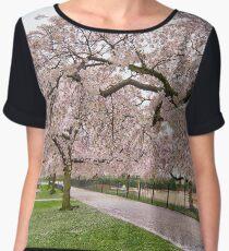 Pink Blossom Trees Chiffon Top