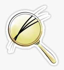 tiny hairs under magnifier Sticker