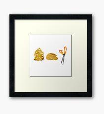 Rock Pancake Scissors Framed Print