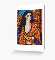 gondwana geisha Greeting Card