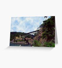 Deception Pass Bridge Greeting Card