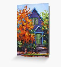 Fall in the Neighborhood Greeting Card