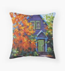 Fall in the Neighborhood Throw Pillow
