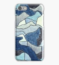 Abstract Arctic Crayon iPhone Case/Skin