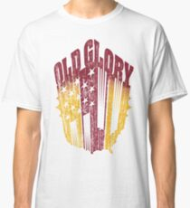 Old Glory Nation: Red/Gold Classic T-Shirt